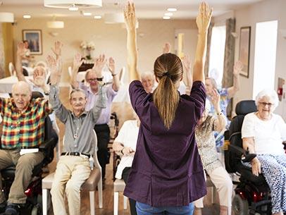 Giornata in Casa di riposo Casa Serena - Animazione anziani